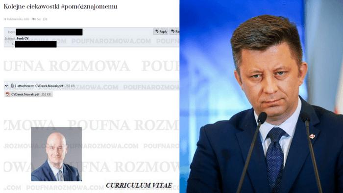 Dariusz Nowak w mailu do Michała Dworczyka