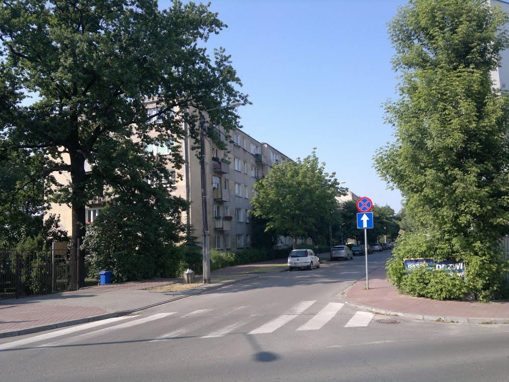 Skrzyżowanie ul. Powstańców i Chopina w Pruszkowie